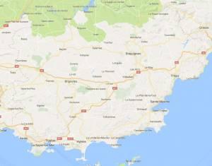 Carte département du Var(83)